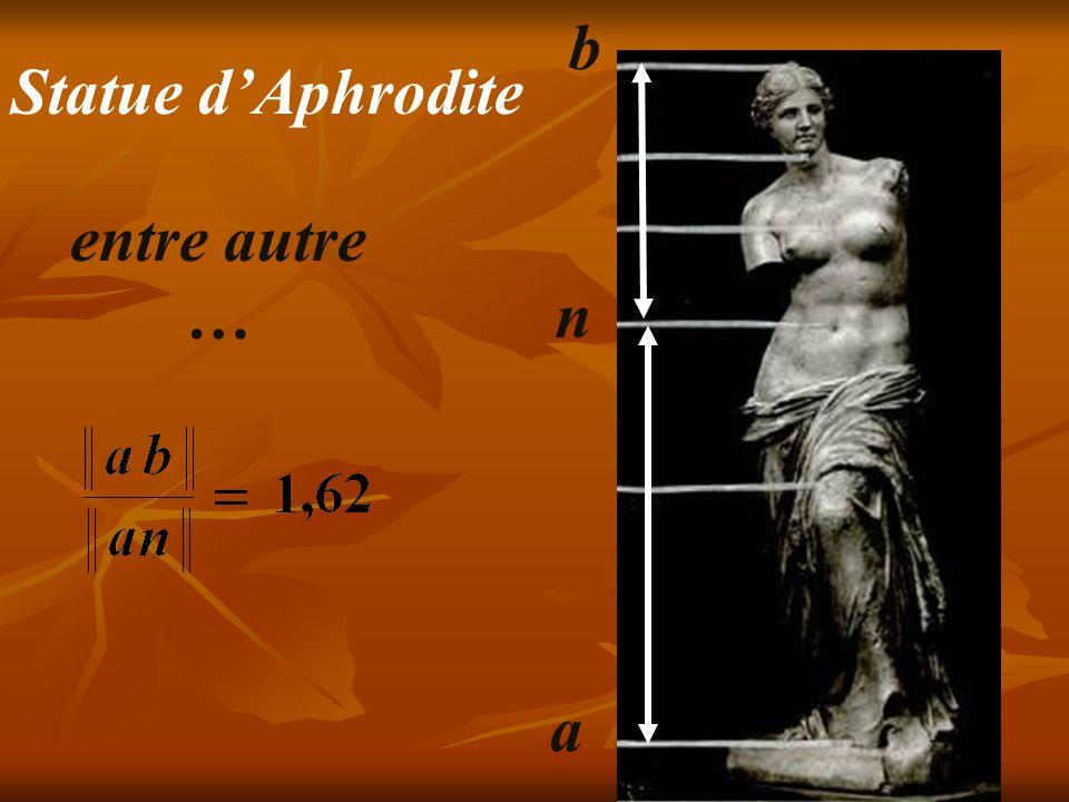 b Statue d'Aphrodite entre autre … n a