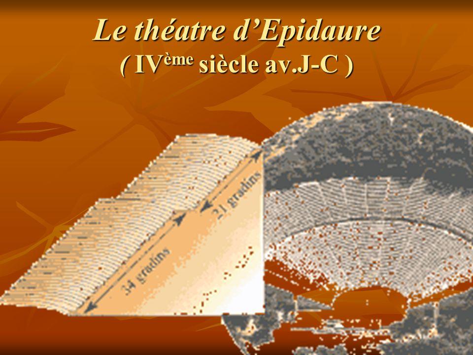 Le théatre d'Epidaure ( IVème siècle av.J-C )
