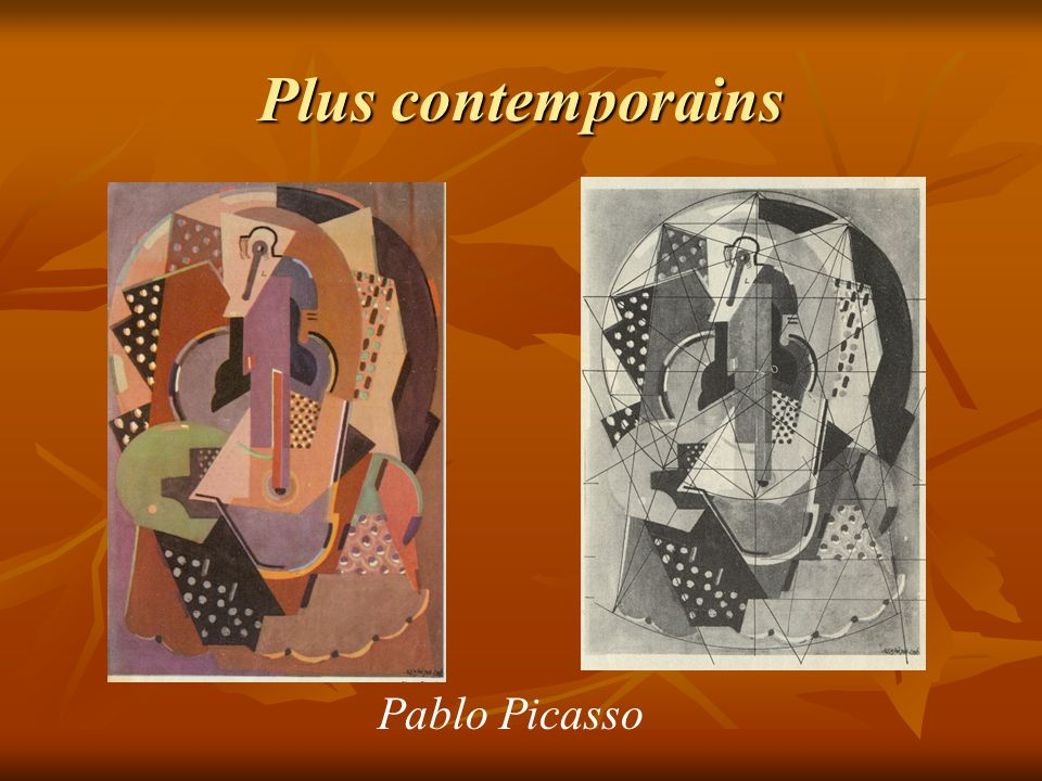 Plus contemporains Pablo Picasso