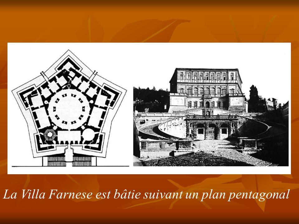 La Villa Farnese est bâtie suivant un plan pentagonal