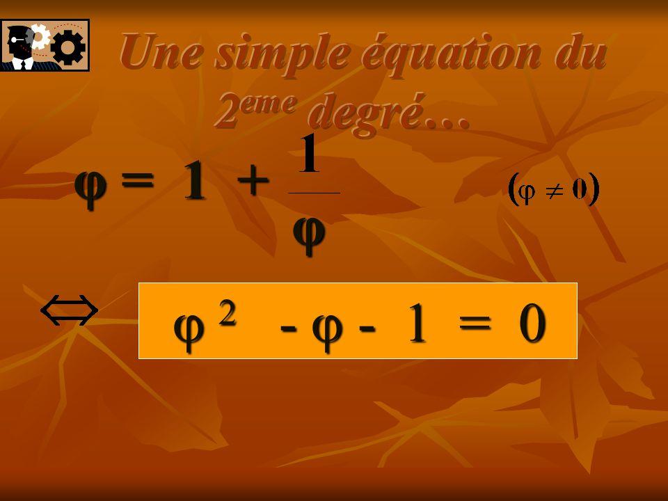 Une simple équation du 2eme degré…