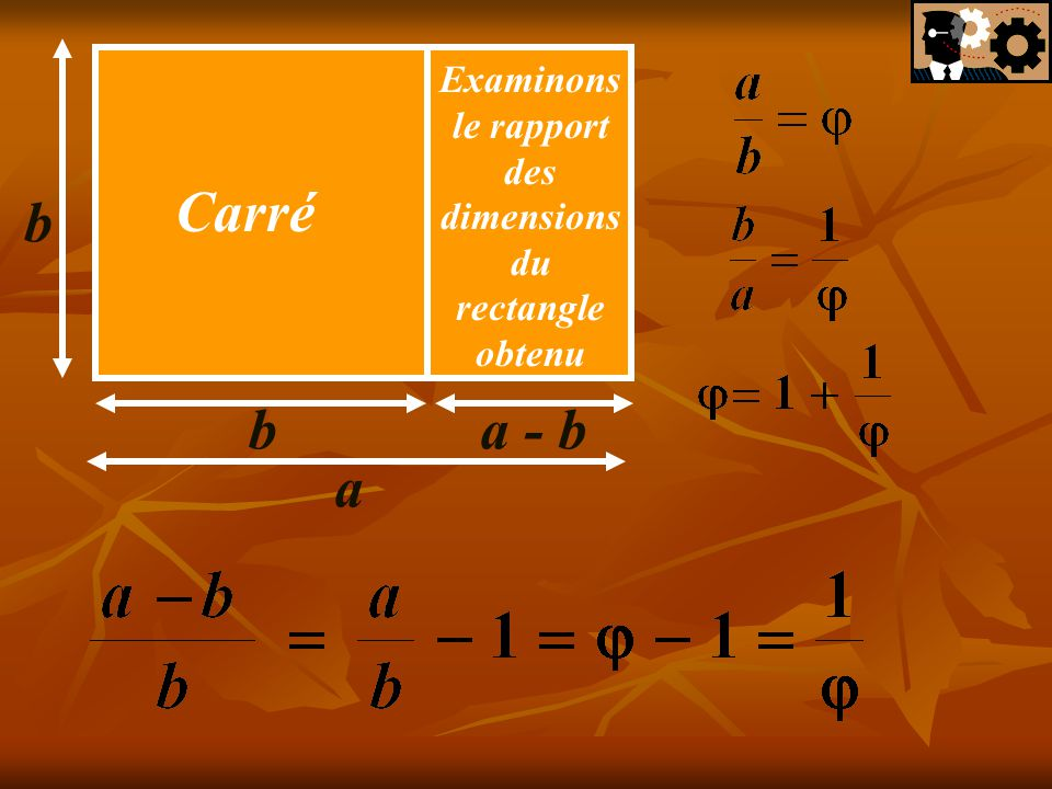 Examinons le rapport des dimensions du rectangle obtenu