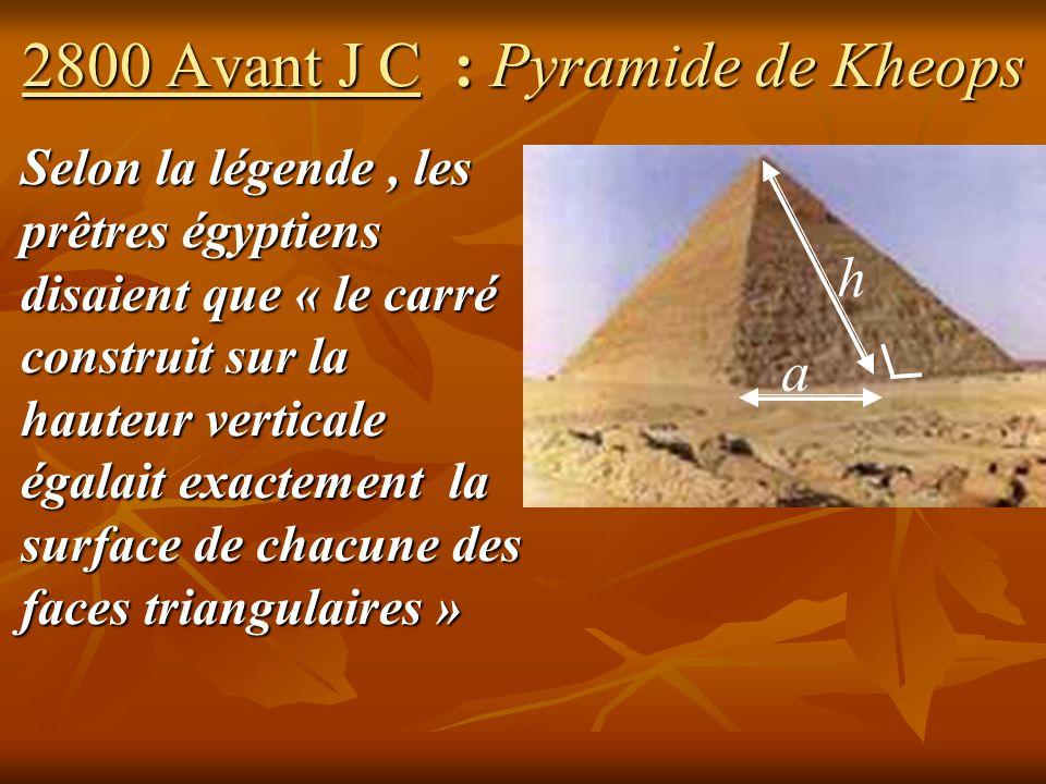 2800 Avant J C : Pyramide de Kheops