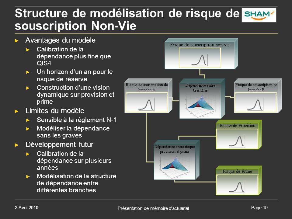 Structure de modélisation de risque de souscription Non-Vie