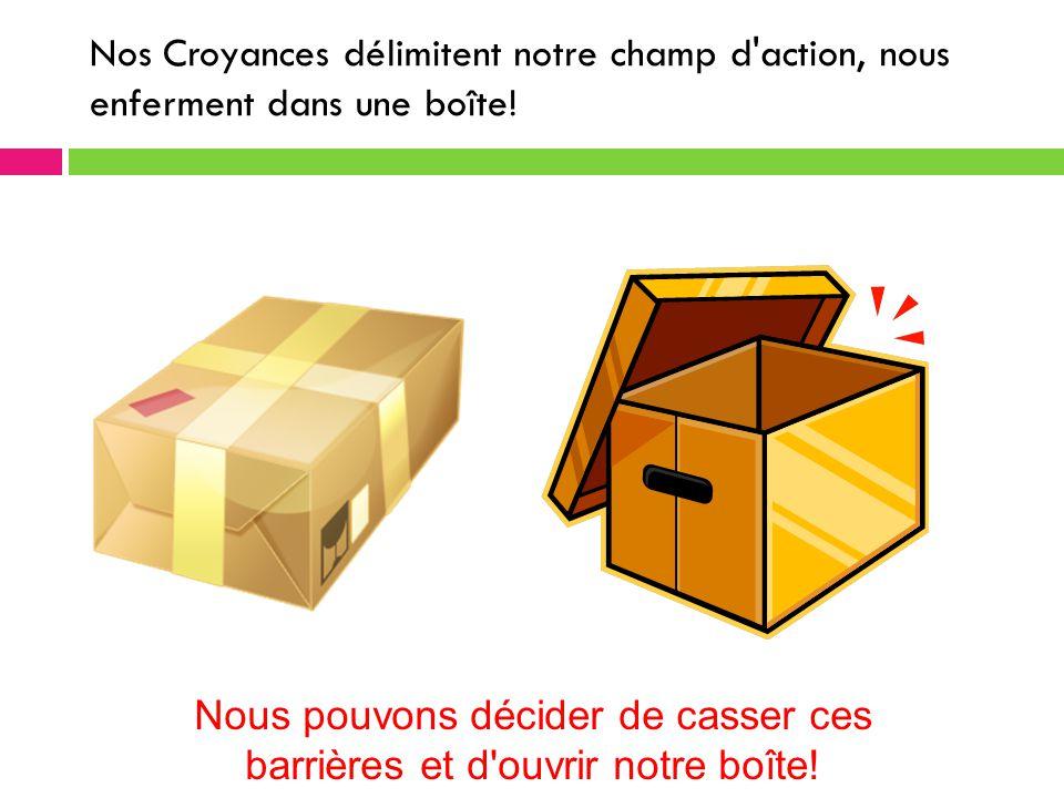 Nous pouvons décider de casser ces barrières et d ouvrir notre boîte!