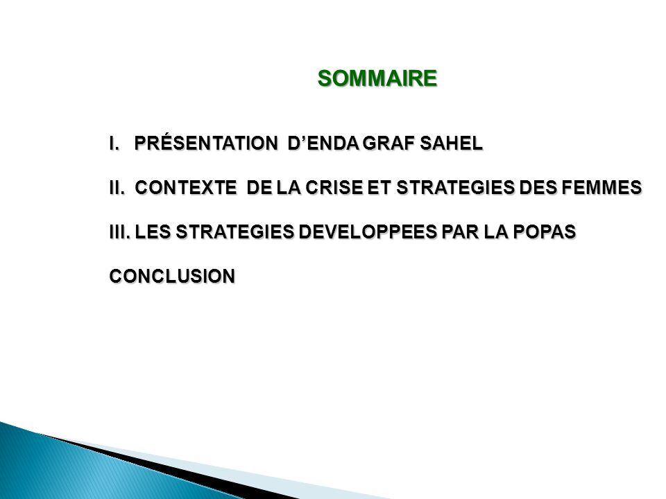 SOMMAIRE PRÉSENTATION D'ENDA GRAF SAHEL