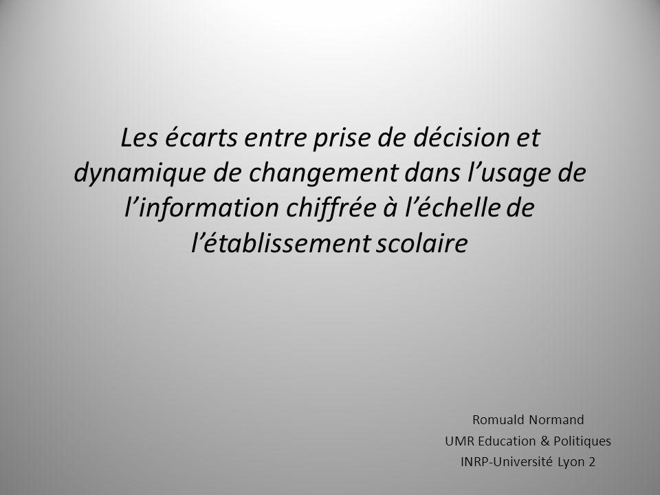 Romuald Normand UMR Education & Politiques INRP-Université Lyon 2