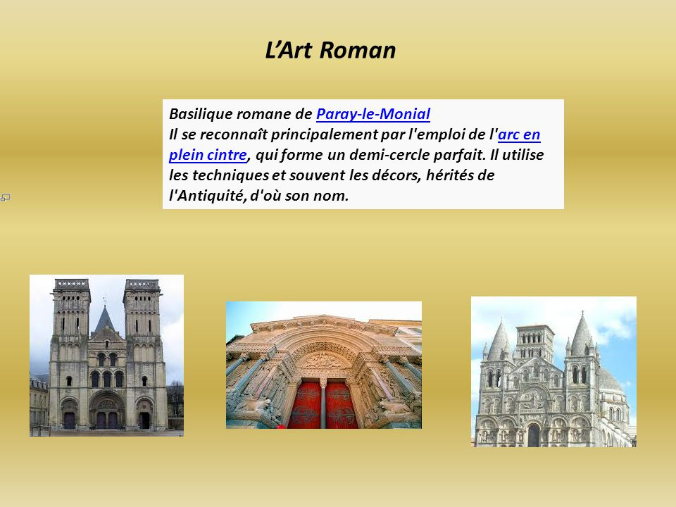 L'Art Roman Basilique romane de Paray-le-Monial