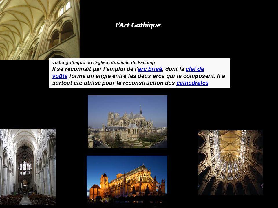 L'Art Gothique voûte gothique de l église abbatiale de Fécamp.