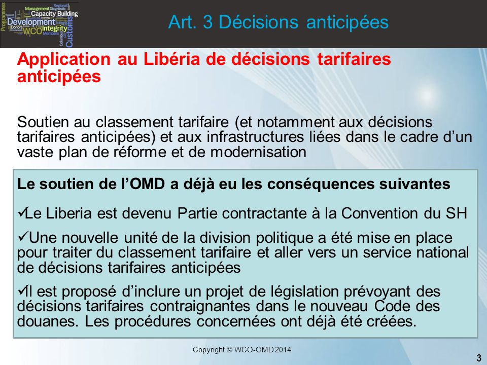 Art. 3 Décisions anticipées