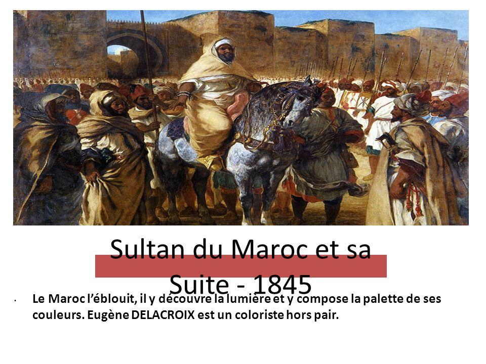 Sultan du Maroc et sa Suite - 1845