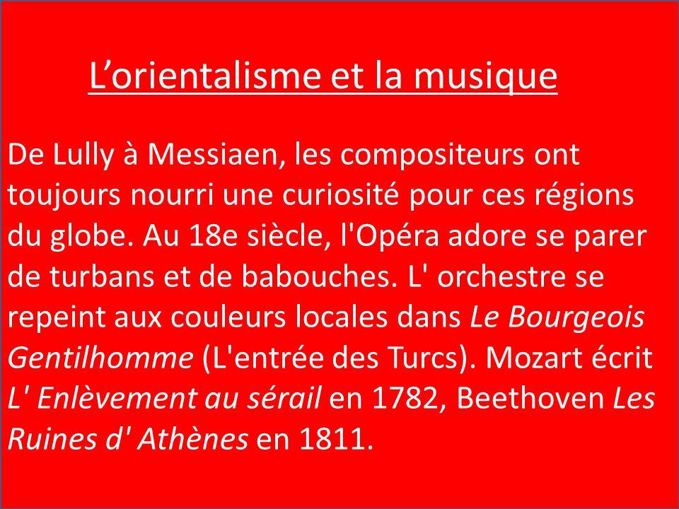 L'Orientalisme et la Musique