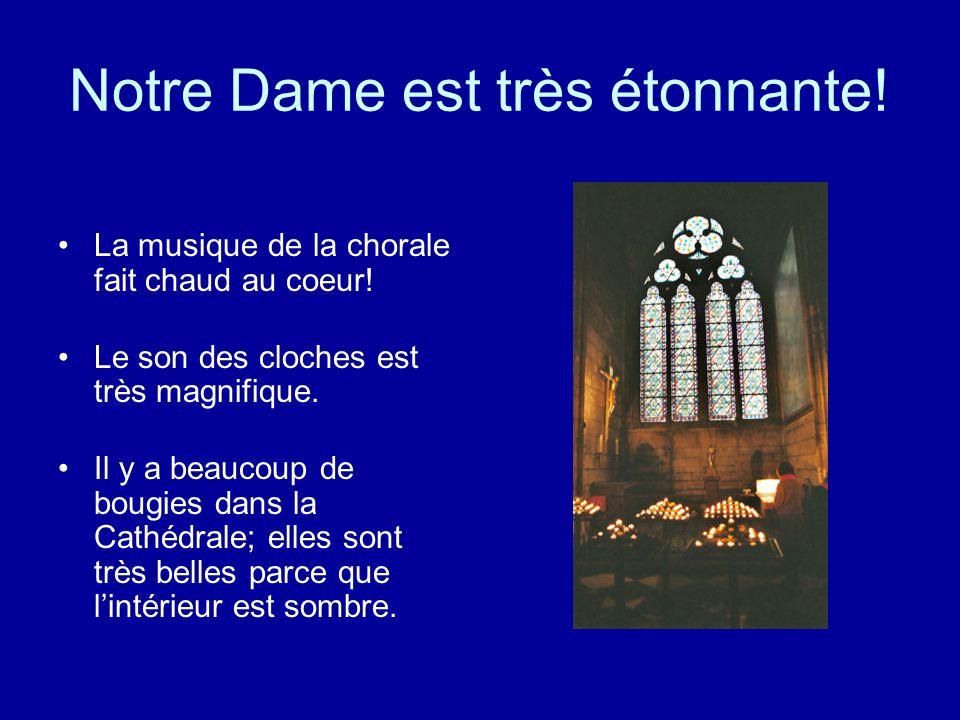 Notre Dame est très étonnante!