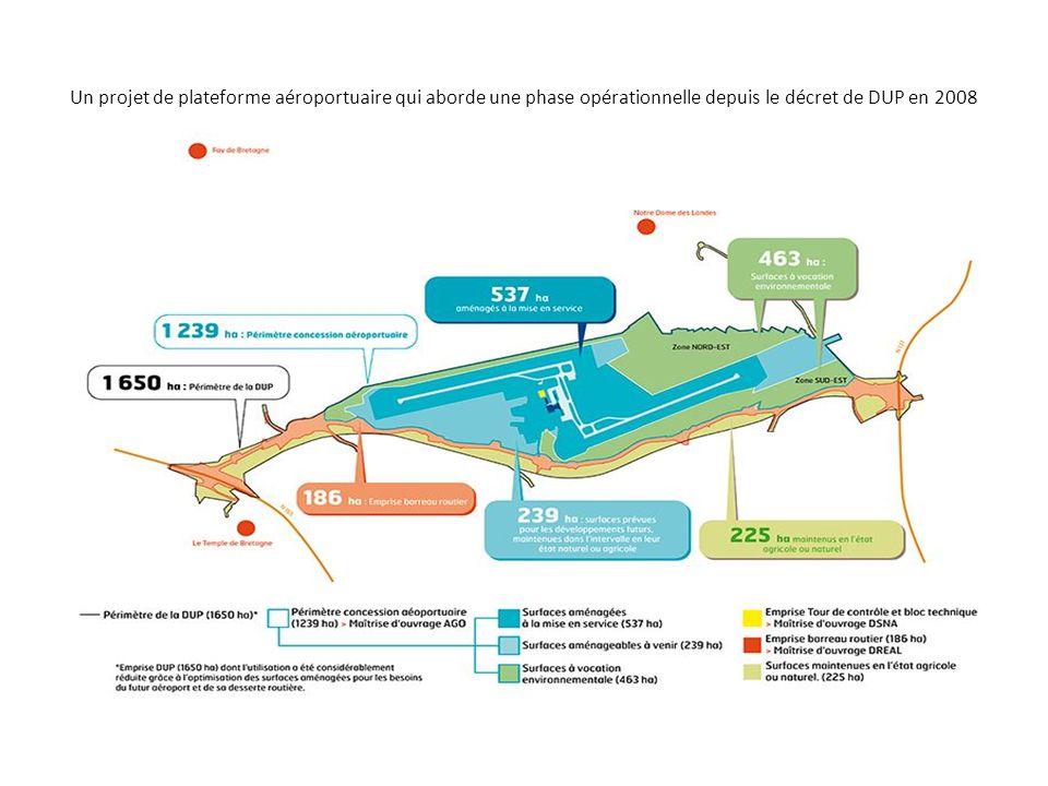 Un projet de plateforme aéroportuaire qui aborde une phase opérationnelle depuis le décret de DUP en 2008