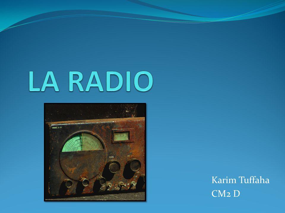 LA RADIO Karim Tuffaha CM2 D