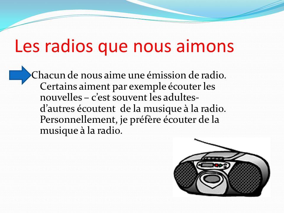 Les radios que nous aimons