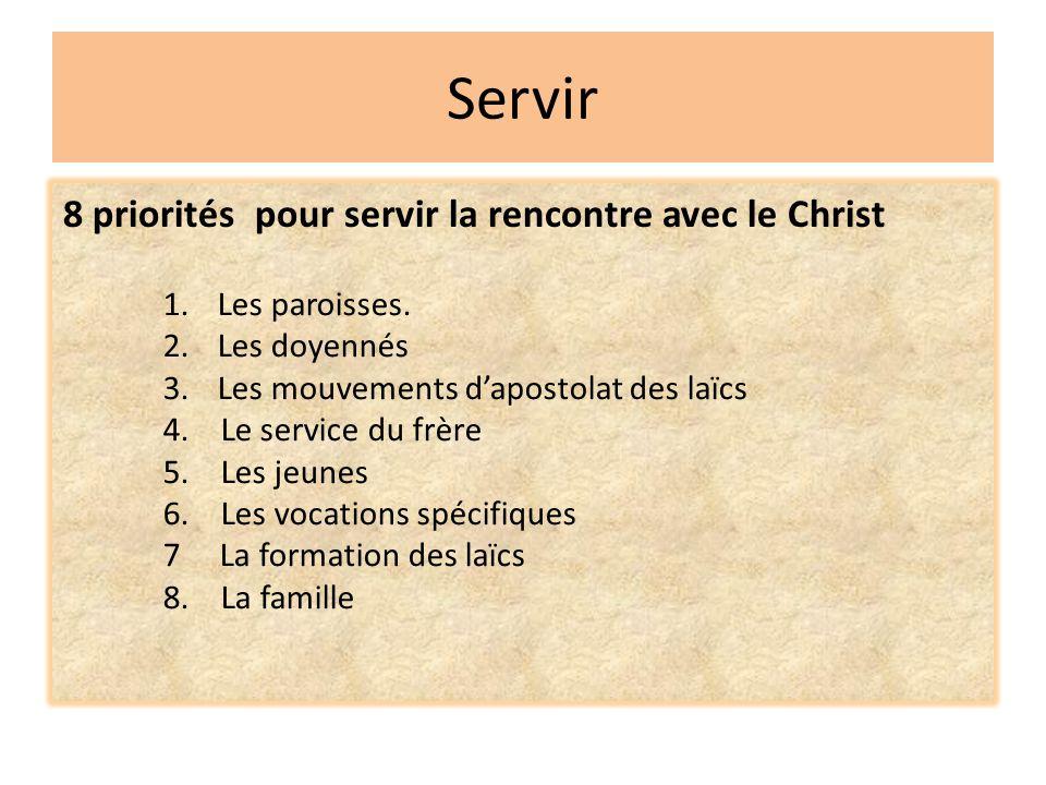 Servir 8 priorités pour servir la rencontre avec le Christ