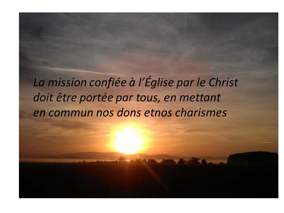 La mission confiée à l'Église par le Christ
