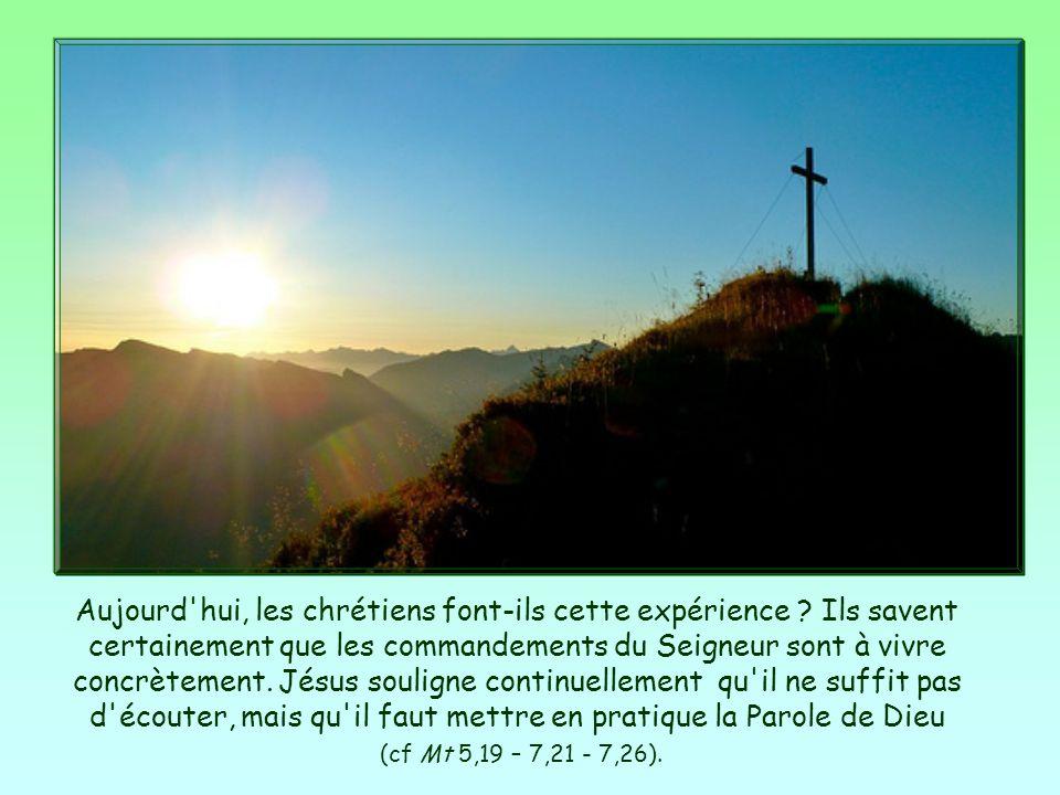 Aujourd hui, les chrétiens font-ils cette expérience