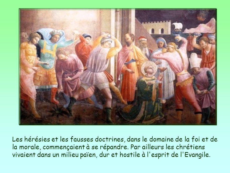 Les hérésies et les fausses doctrines, dans le domaine de la foi et de la morale, commençaient à se répandre.