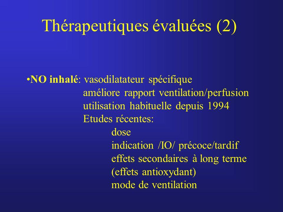Thérapeutiques évaluées (2)