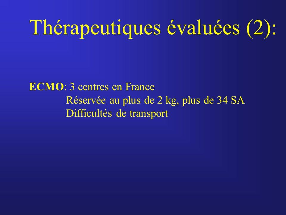 Thérapeutiques évaluées (2):