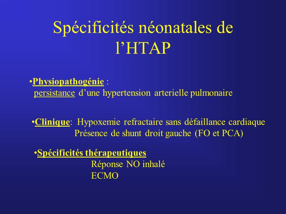 Spécificités néonatales de l'HTAP
