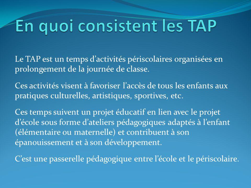 En quoi consistent les TAP
