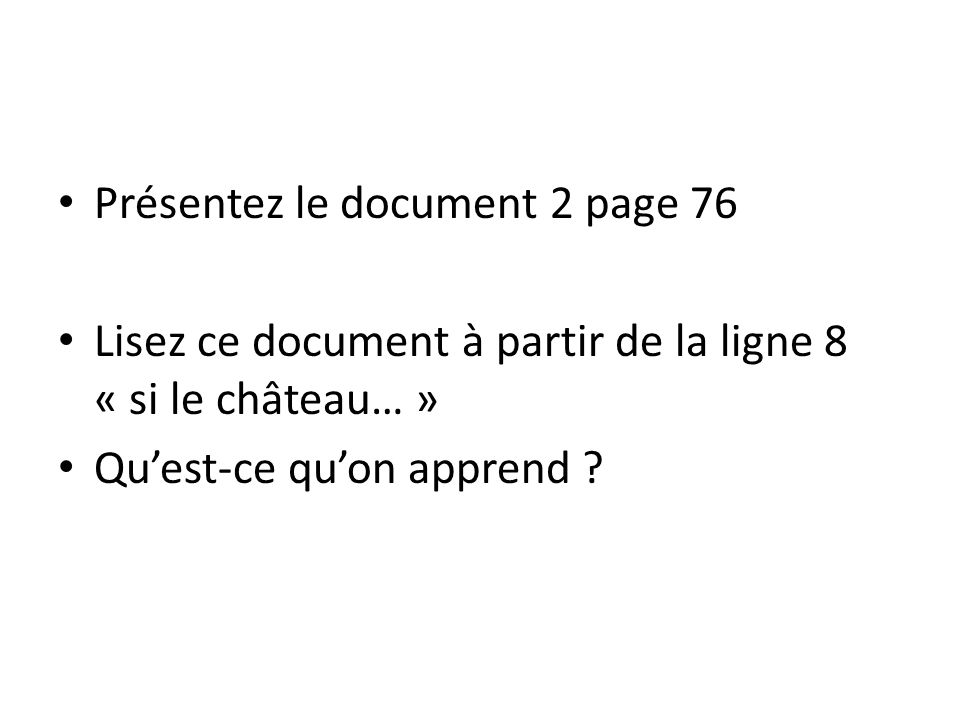 Présentez le document 2 page 76