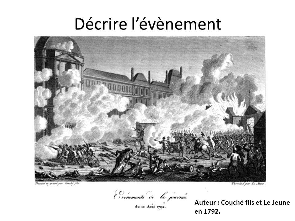Décrire l'évènement Auteur : Couché fils et Le Jeune en 1792.