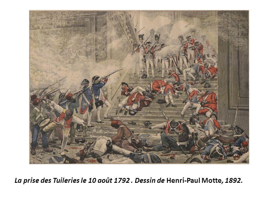 La prise des Tuileries le 10 août 1792