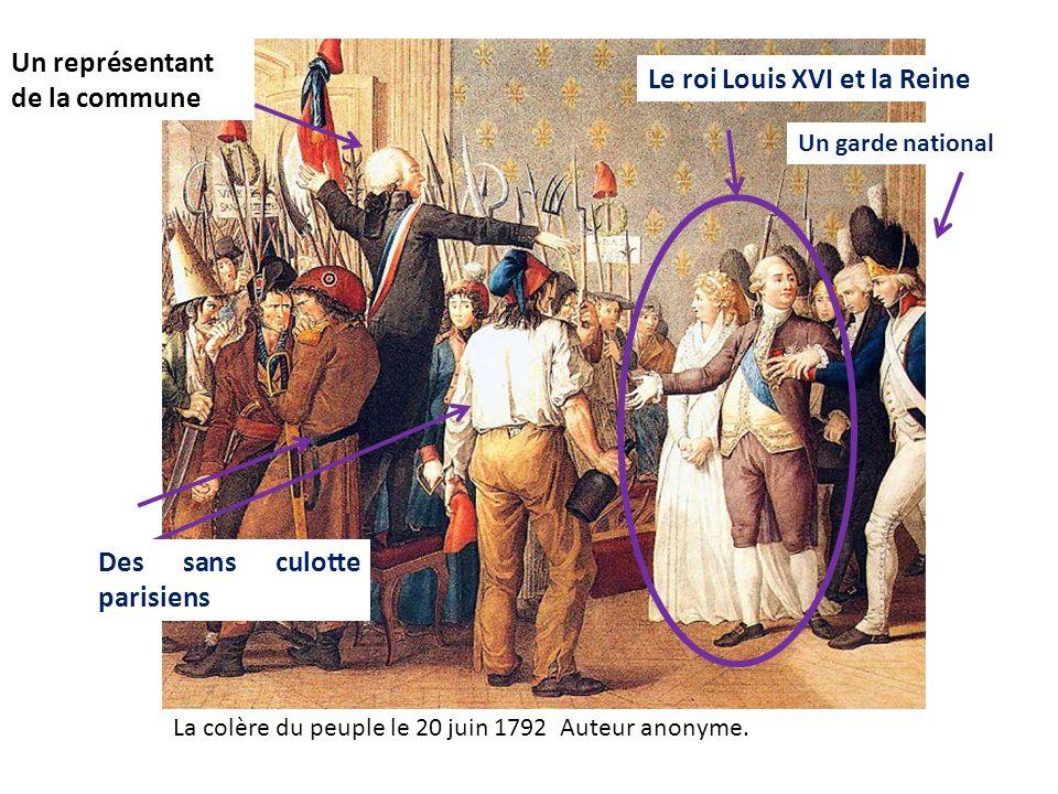 Un représentant de la commune Le roi Louis XVI et la Reine