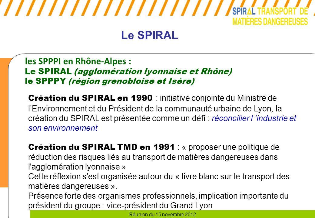 Le SPIRAL les SPPPI en Rhône-Alpes :