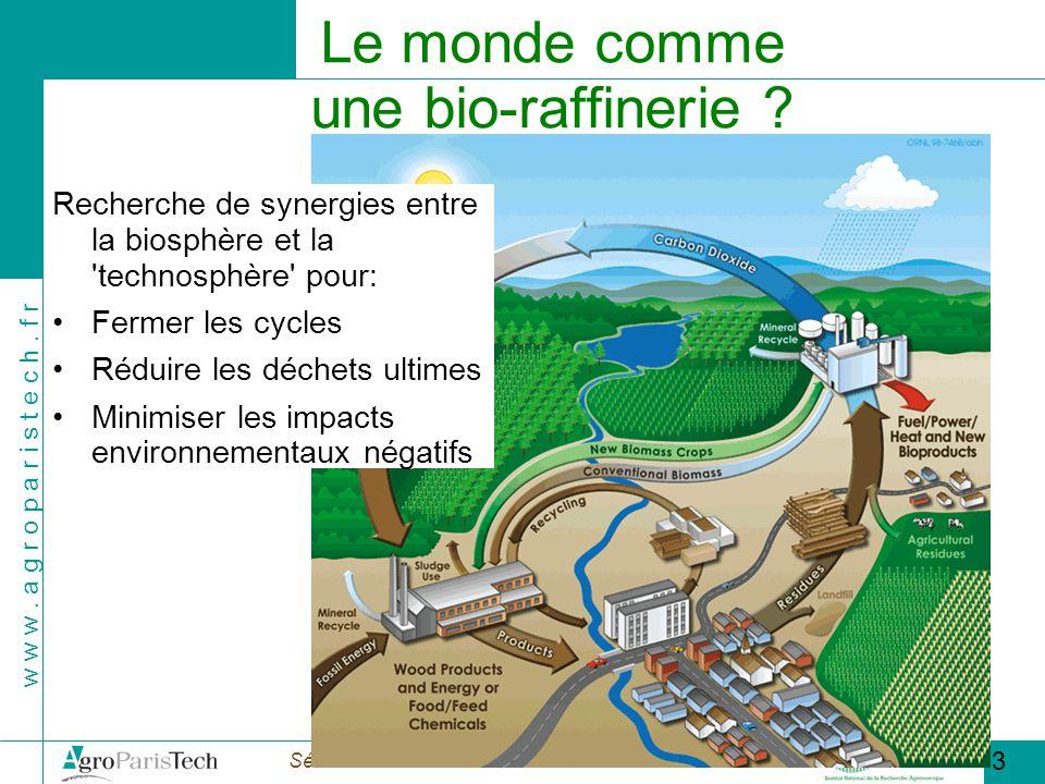 Le monde comme une bio-raffinerie