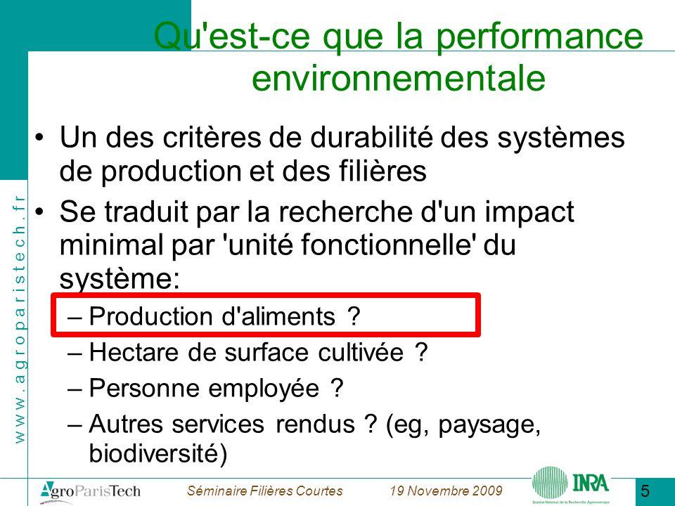 Qu est-ce que la performance environnementale