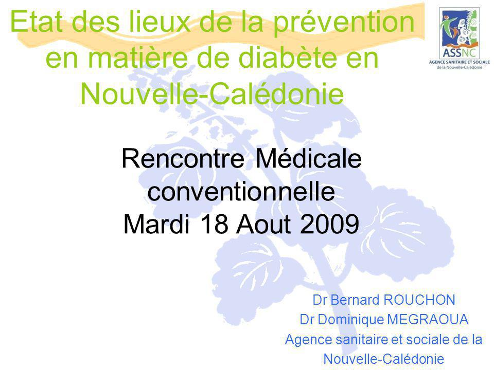 Etat des lieux de la prévention en matière de diabète en Nouvelle-Calédonie