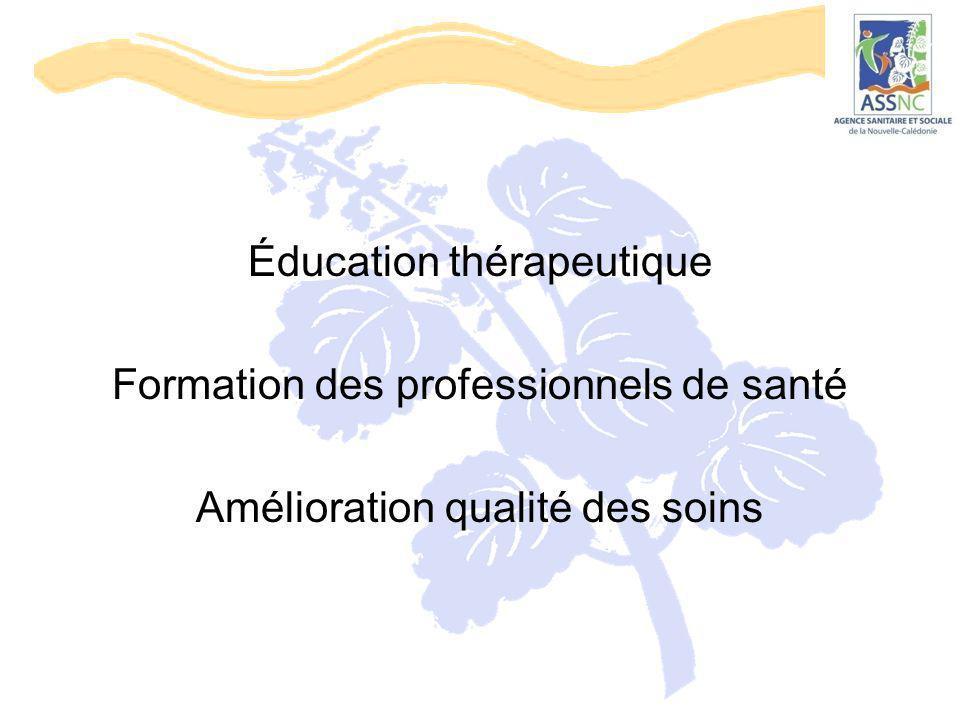 Éducation thérapeutique Formation des professionnels de santé
