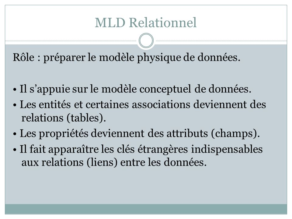 MLD Relationnel