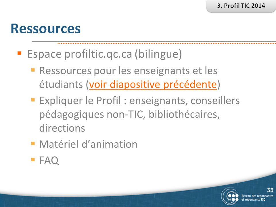 Ressources Espace profiltic.qc.ca (bilingue)