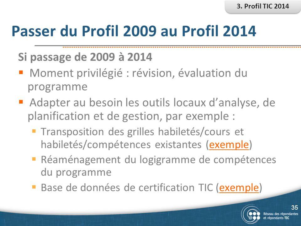 Passer du Profil 2009 au Profil 2014