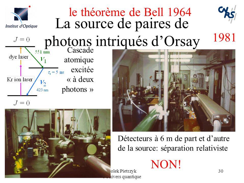 La source de paires de photons intriqués d'Orsay