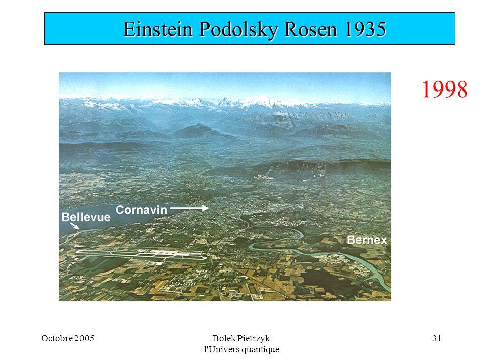 1998 Einstein Podolsky Rosen 1935 Octobre 2005