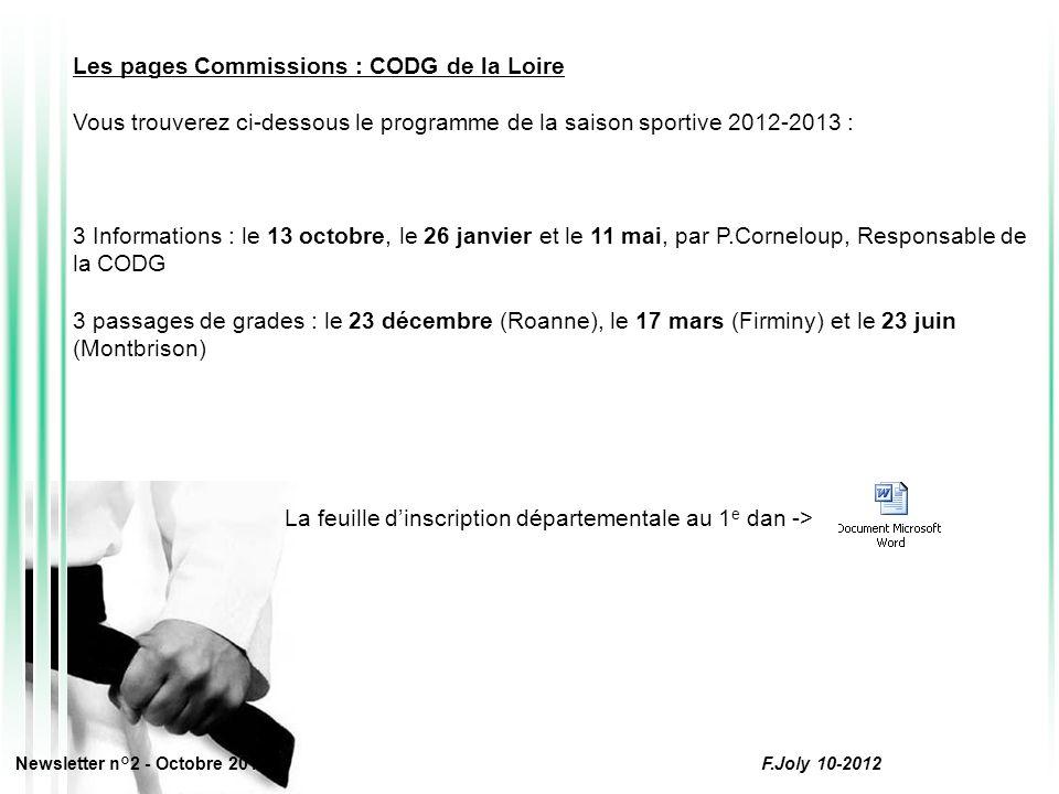 Les pages Commissions : CODG de la Loire