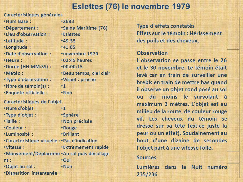 Eslettes (76) le novembre 1979