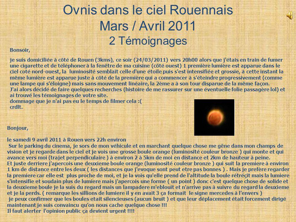 Ovnis dans le ciel Rouennais