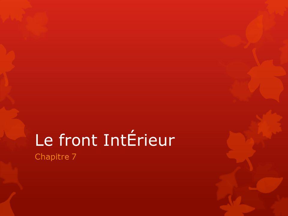 Le front IntÉrieur Chapitre 7