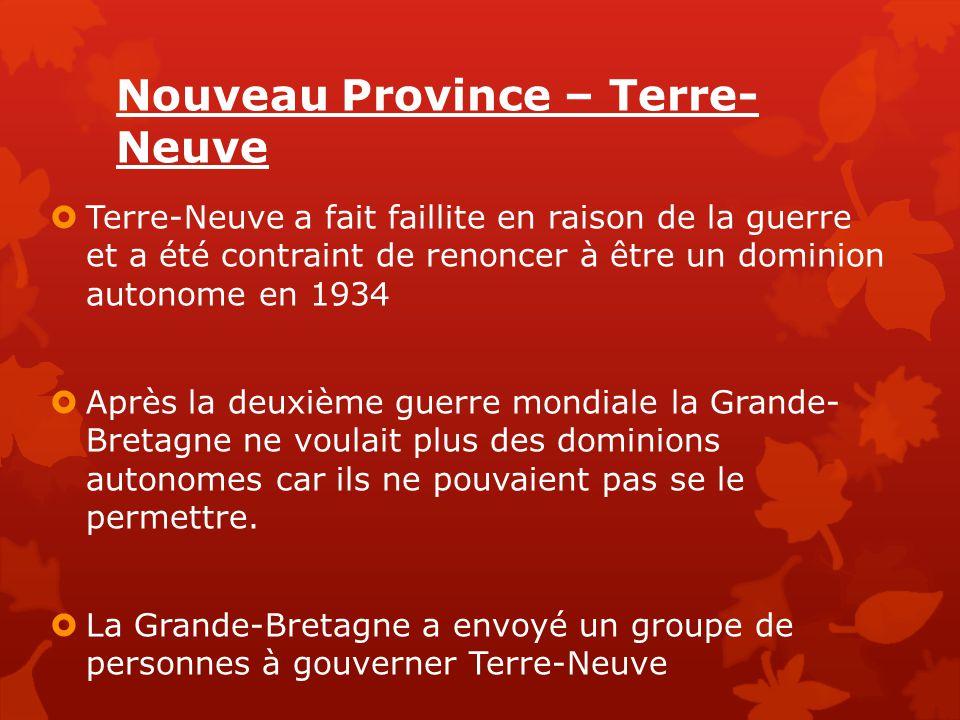 Nouveau Province – Terre-Neuve