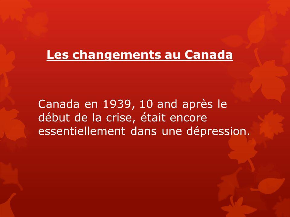 Les changements au Canada