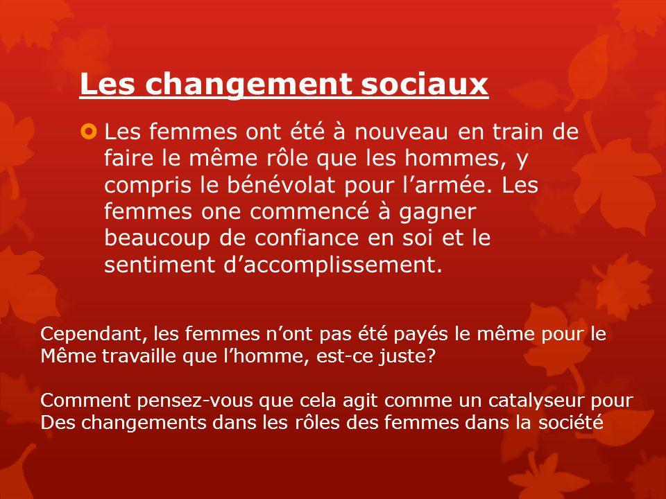 Les changement sociaux