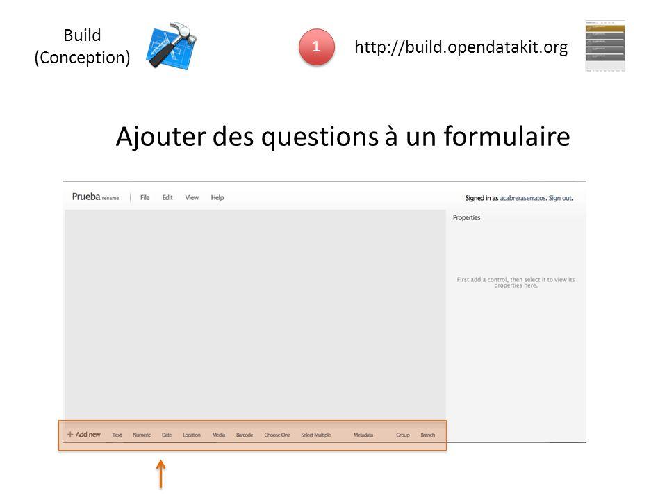 Ajouter des questions à un formulaire